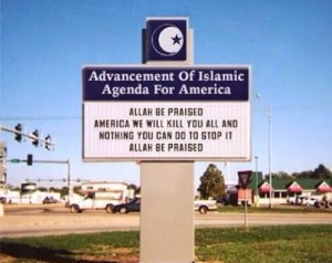 Sign at Mosque in MI - 2014