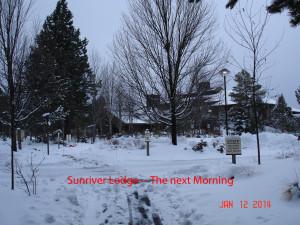 The next day, Sunriver Lodge