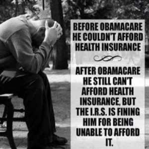 Can't Afford ObamaCare